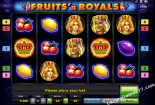 jocuri casino aparate Fruits and Royals Novomatic